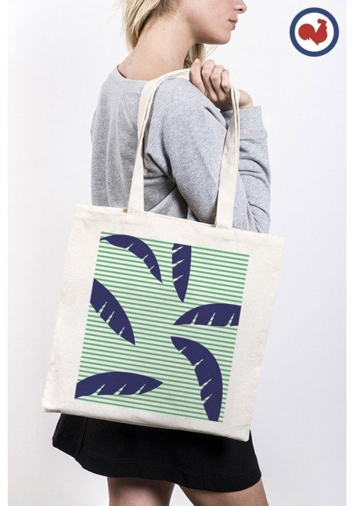 Palmier rayures - ToteBag Made In France