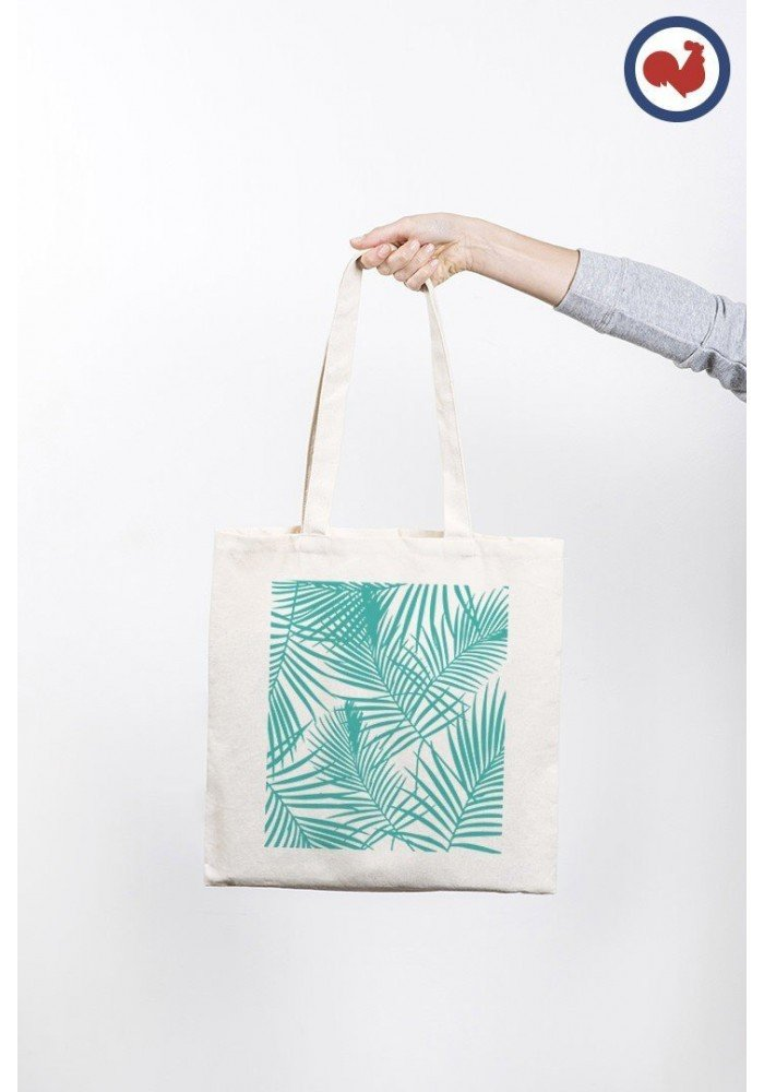 Palmier turquoise - ToteBag Made In France