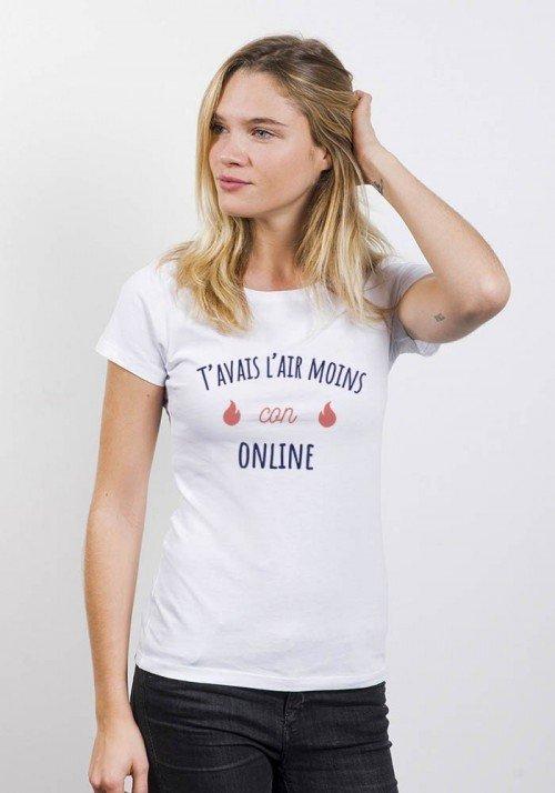 T'avais l'air moins con online - T-shirt Femme