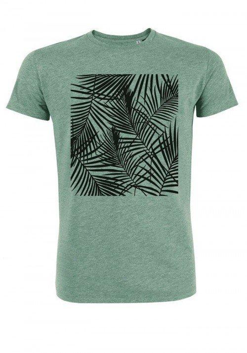 Tropical noir - T-shirt vert chiné Homme