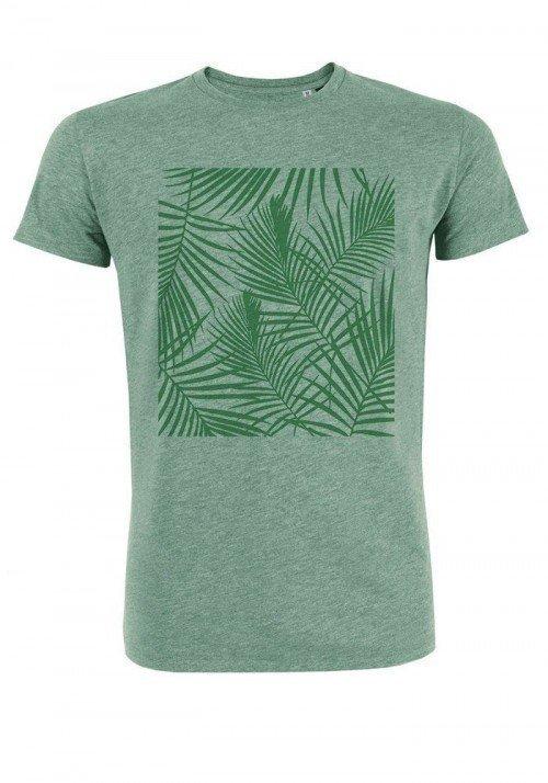 Tropical vert - T-shirt vert chiné Homme