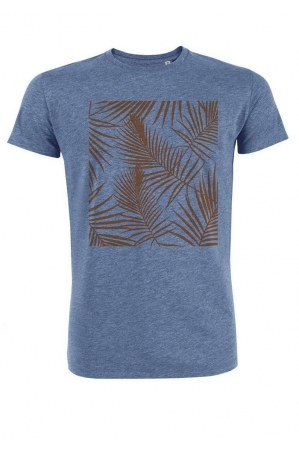 Tropical orange - T-shirt bleu chiné Homme