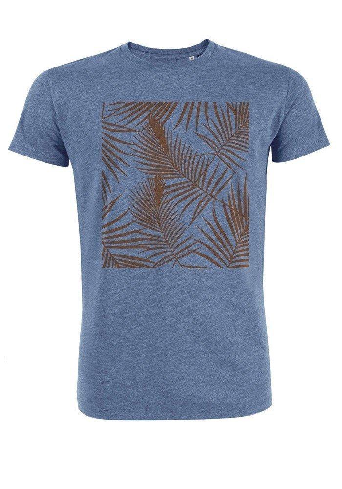 Tropical orange - T-shirt bleu chiné Homme