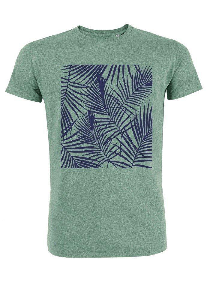 Tropical bleu - T-shirt vert chiné Homme