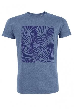 Tropical bleu - T-shirt bleu chiné Homme