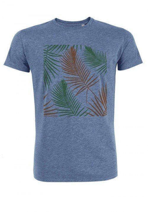 Tropical vert orange - T-shirt bleu chiné Homme