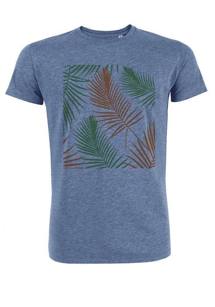 Tropical vert orange - T-shirt bleu chiné Homme
