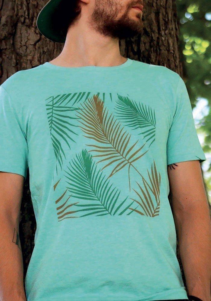 Tropical vert orange - T-shirt vert chiné Homme
