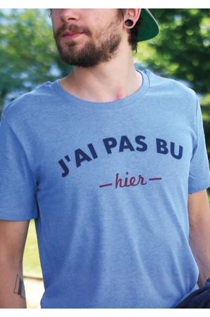 J'ai pas bu hier - T-shirt bleu chiné Homme