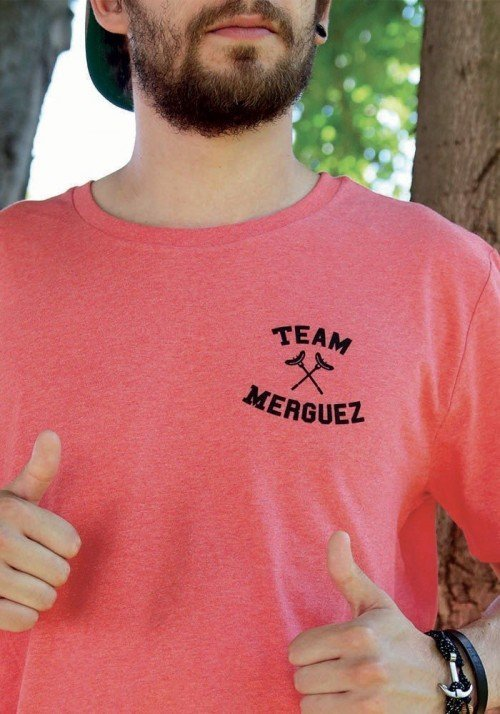 Team merguez - T-shirt rouge chiné Homme