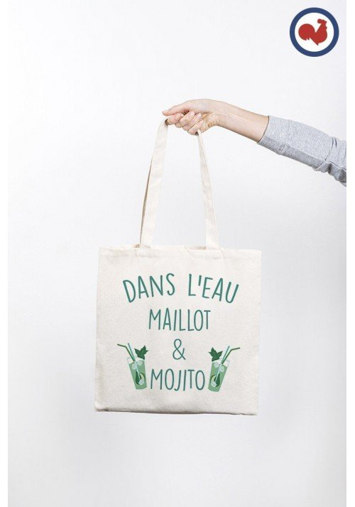 Dans l'eau maillot et mojito - ToteBag Made In France