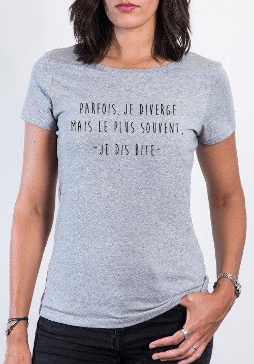 Je diverge T-shirt gris chiné Femme