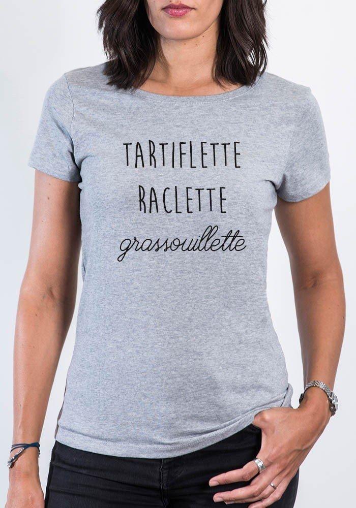 Tartiflette Raclette Grassouillette T-shirt femme col rond
