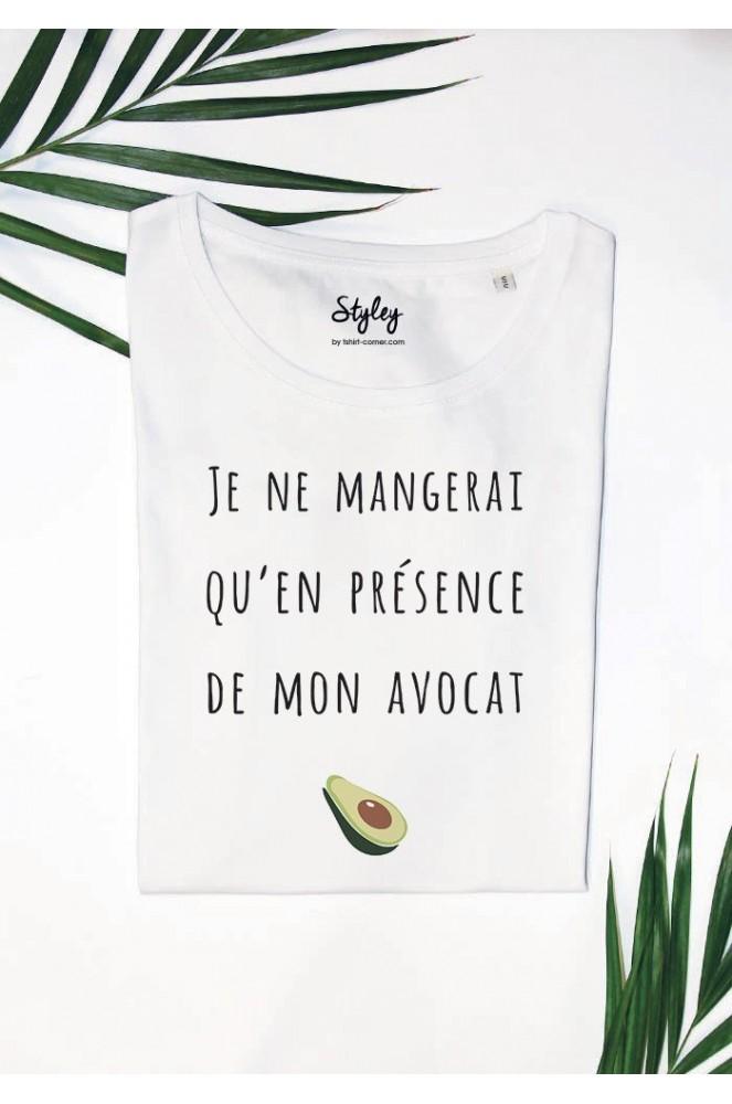 Présence Je Qu'en Avocat Shirt Mon De Femme T Mangerai Ne lK3TFc1J