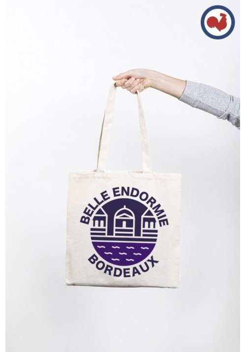 Belle endormie Bordeaux Totebag Made in France