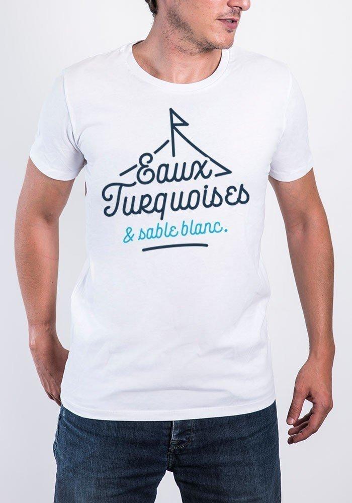 eaux turquoise et sable blanc Tee-shirt Homme