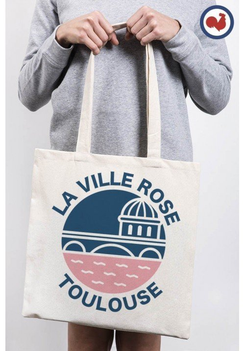 La ville rose Toulouse Totebag Made in France