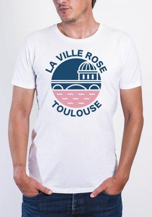 La ville rose Toulouse - T-shirt Homme