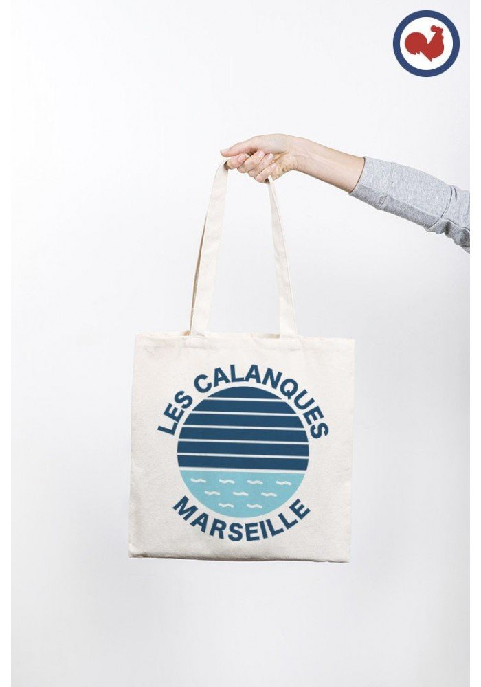 Les calanques Marseille Totebag Made in France