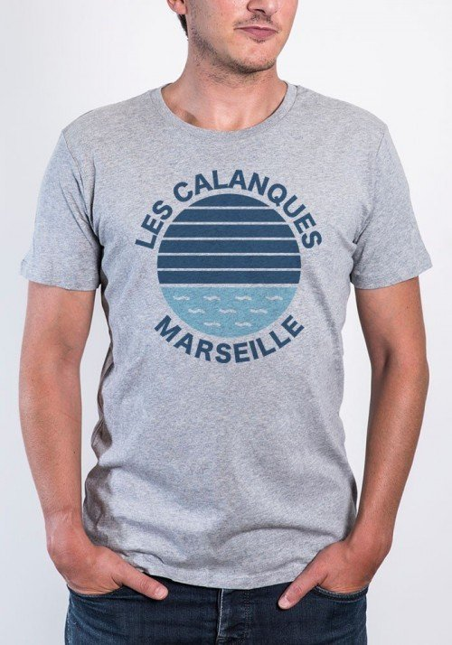 Les calanques Marseille Tee-shirt Homme