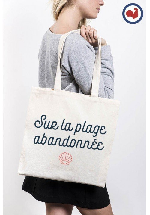 Sur la plage abandonnée Totebag Made in France