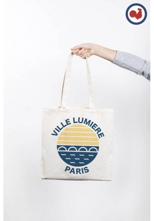 Ville lumière Paris - Totebag Made in France