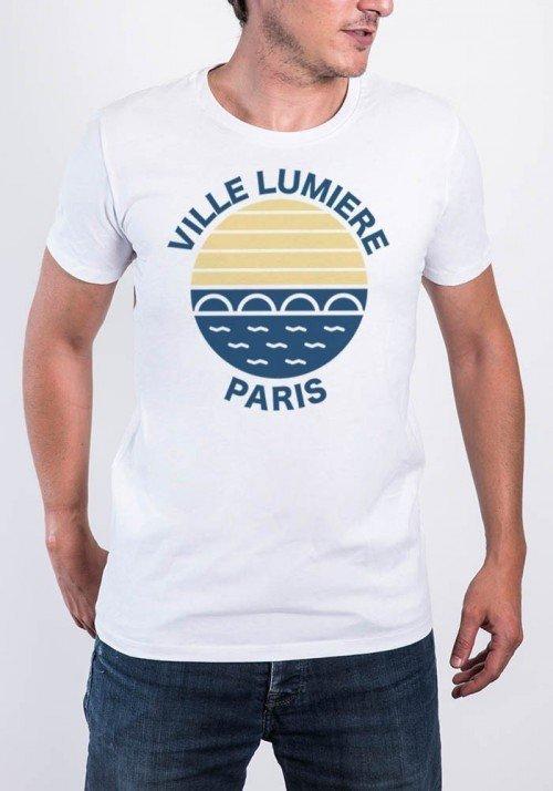 Ville lumière Paris Tee-shirt Homme