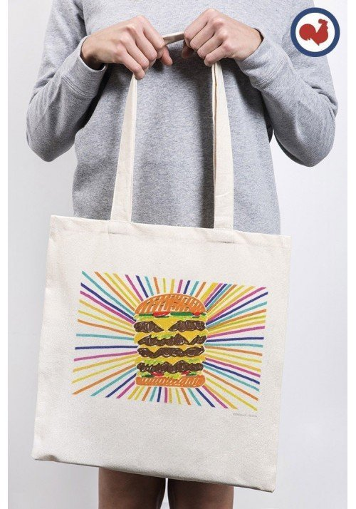 BURGER Totebag Made in France