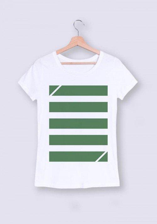 Bandes vertes - T-shirt Femme