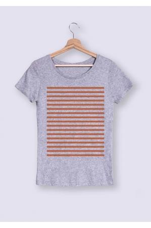 Bandes oranges- T-shirt Femme