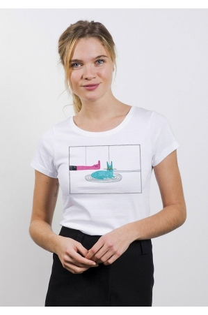FUCK LE CHAT Tee-shirt Femme