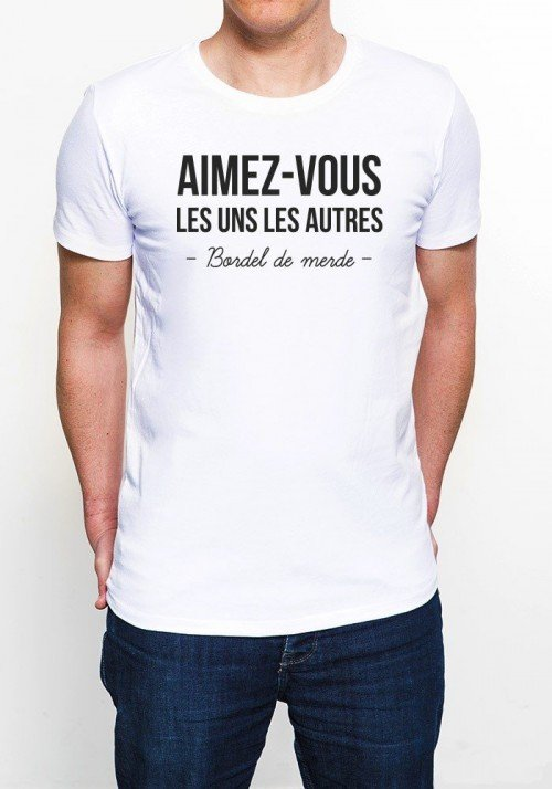 Aimez-vous les uns les autres Tee-shirt Homme
