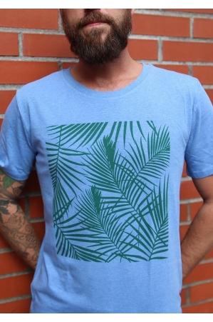 Tropical vert - T-shirt bleu chiné Homme