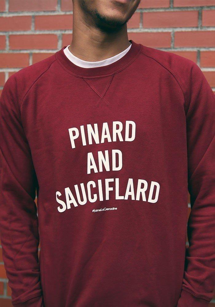 Pinard and Sauciflard - Styley - Sweat Homme Burgundy