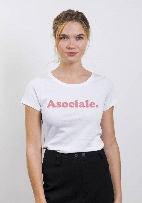 Asociale- T-shirt Femme