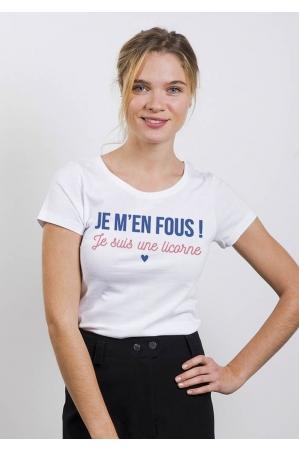 Je m'en fous je suis une licorne - T-shirt Femme