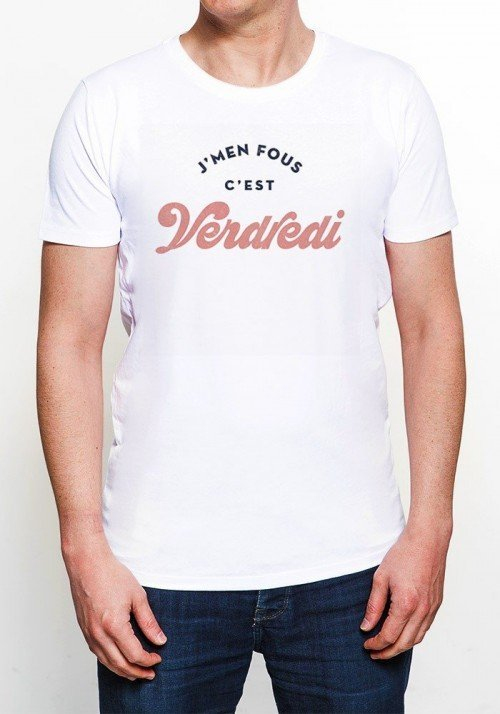 Je m'en fous c'est vendredi - T-shirt Homme