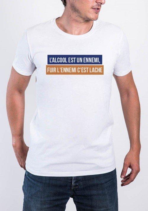 L'alcool est un ennemi - T-shirt Homme