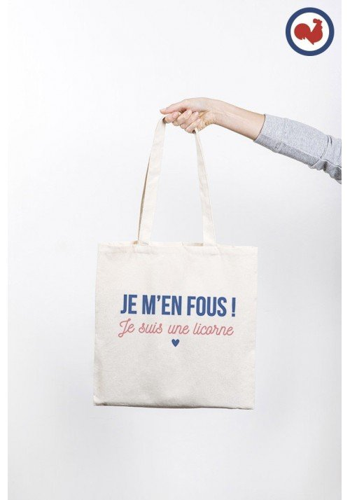 Je m'en fous je suis une licorne Totebag Made in France
