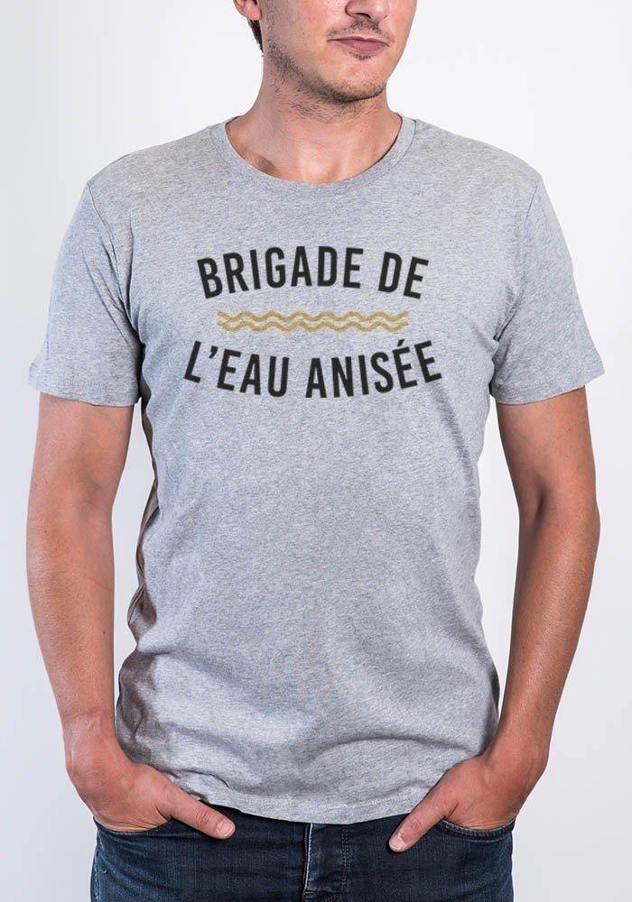 Brigade de l'eau Anisée T-shirt Homme Col Rond - JLG