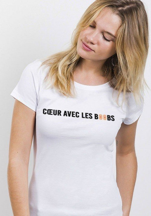 Coeur avec les boobs - T-shirt Femme