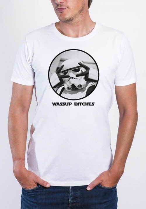 Wassup bitches Trooper - T-shirt Homme