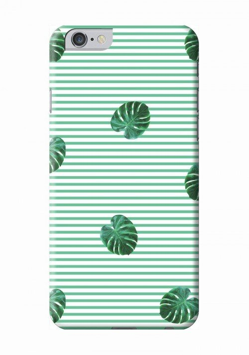 Feuilles rayées - Coque smartphone