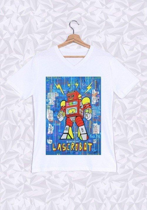 Rock Bot T-shirt Homme Col V