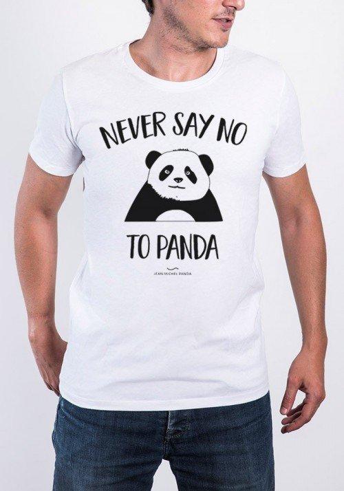 Aqua Panda T-shirt Homme Col Rond