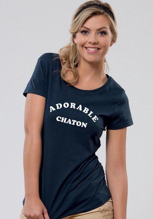 Adorable Chaton T-shirt Femme