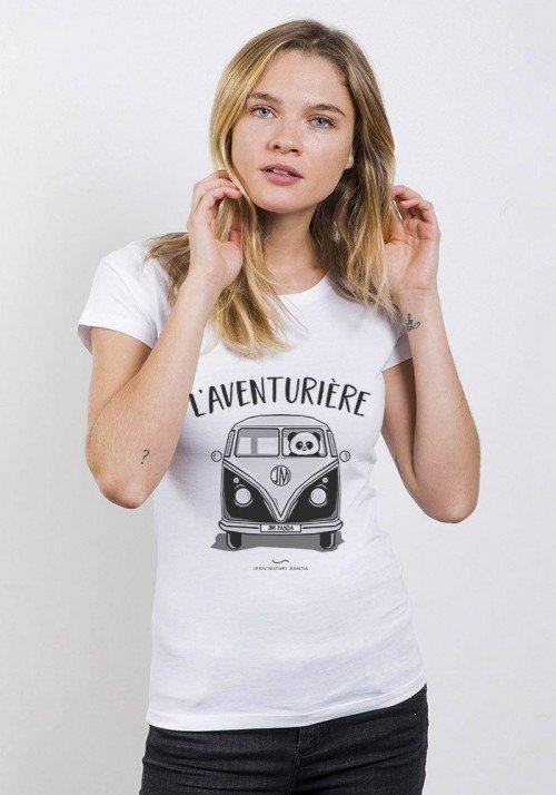 l'aventurière T-Shirt Femme Col Rond