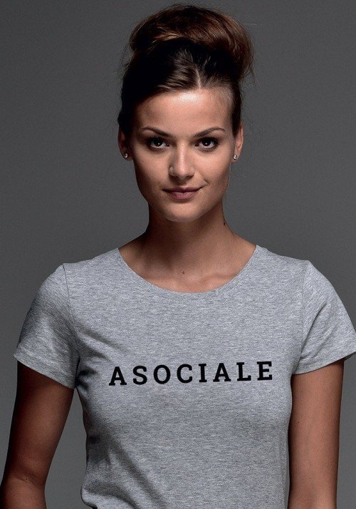 Asociale T-shirt Femme