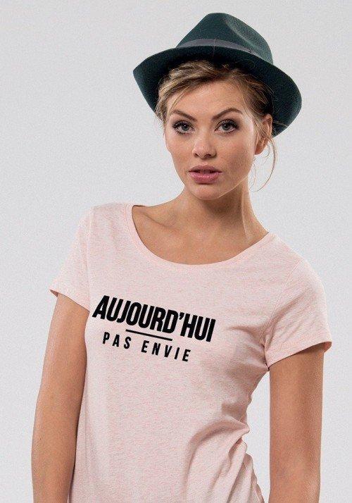 Pas envie T-shirt Femme Col Rond