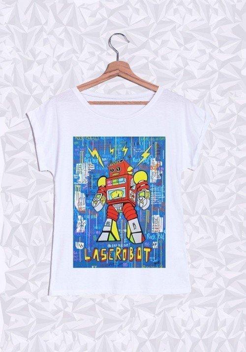 Rock Bot T-shirt Femme Manches Retroussées